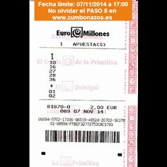 Euromillones del 07/11/2014