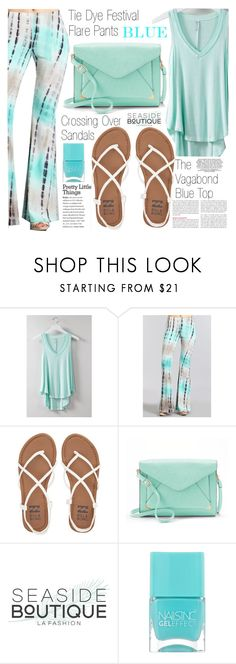 """""""Festival Style"""" by vanjazivadinovic ❤ liked on Polyvore featuring Billabong, Apt. 9, Nails Inc., polyvoreeditorial and seasideboutique"""