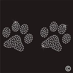 Dog Paws Rhinestone Diamante Transfer Iron On Hotfix Gem Crystal Patch Motif in Crafts, Beads, Rhinestone Sequin Crafts, Heart Doodle, Nail String Art, Prego, Crystal Design, Beaded Bracelet Patterns, Crafts To Make And Sell, Dots Design, Diy Sewing Projects