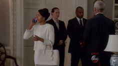 Olivia Pope's White St. John Collection Beaded Organza-Trimmed Boucle Jacket from Scandal - Season 5 Episode 6 | TheTake