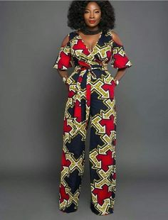 latest African print, African fashion, Ankara style in jumpsuit. African Fashion Designers, African Fashion Ankara, Latest African Fashion Dresses, African Print Fashion, Africa Fashion, Ghanaian Fashion, African Prints, African Print Jumpsuit, Ankara Jumpsuit