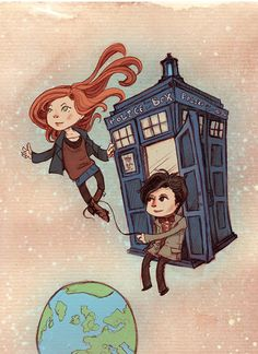 Amy and the Doctor.
