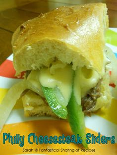 Fantastical Sharing of Recipes: Philly Cheesesteak Sliders