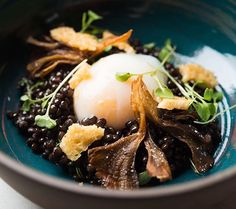 @TheGanderNYC's new menus at The Bar Room and Dining Room include this delicious dish: Warm lentils with poached egg, mushrooms and parmesan via @evansungnyc #foodandwine