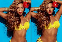 Beyoncé para H&M: obligó a la marca a quitar los retoques que le hacían parecer más delgada. De las extensiones y los 3 kilos de maquillaje no dijo nada.