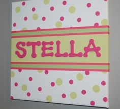 Custom Canvas Art with Name 12 x 12 shown by PrintsbyJaneLeone, $25.00