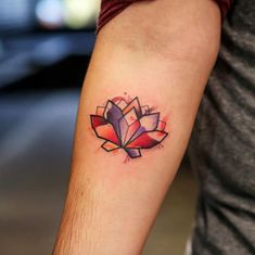 awesome Geometric Tattoo - 50+ Incredible Lotus Flower Tattoo Designs - TattooBlend