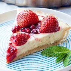 Tarta sernikowa z truskawkami - Przepis