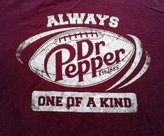 Dr Pepper shirt Football T-Shirt Medium M red burgundy always one of a kind soda #DrPepper #GraphicTee
