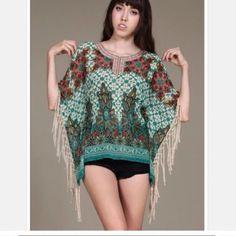 Spotted while shopping on Poshmark: Fringed Kaftan! #poshmark #fashion #shopping #style #Tops
