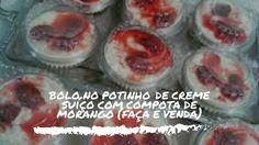 Bolo no potinho de Creme Suíço com Compota de Morango ### Fátima Paulista