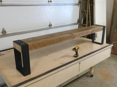 Reclaimed Beam Bench by MidlandPointWoodshop on Etsy, $350.00