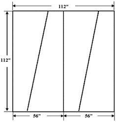 Double Diagonal Backing - técnica que pode ser usada quando não houver tecido de forro suficiente. No mesmo site, outros exemplos de corte. Útil.
