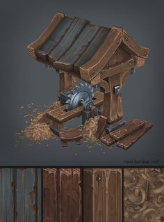 Hand painted environment - Wood house - Page 5 - polycount Web Design, Prop Design, Game Design, Environment Concept Art, Environment Design, Game Environment, Zbrush Environment, Blender 3d, Texture Painting