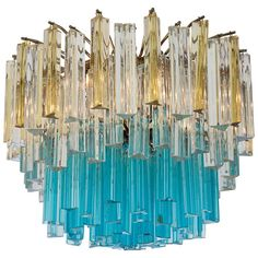 1960s Vintage Murano Glass Chandelier | From a unique collection of antique and modern chandeliers and pendants at https://www.1stdibs.com/furniture/lighting/chandeliers-pendant-lights/