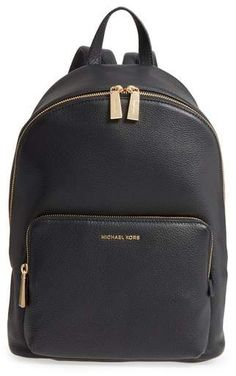 Michael Kors Large Wythe Leather Backpack  #style #fashion #sexy #beauty #styleblog #clothing