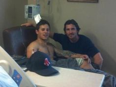 Christian Bale visited victims of the Aurora, Colorado theater shooting.  True super hero he is. ;')