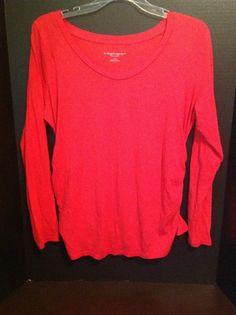 Liz Lange Maternity Shirt Top Large Coral Orange Target