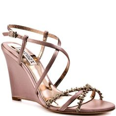 #hot Badgley Mischka Women's Gisele Wedge Sandal,Rose Satin,10 M US