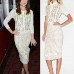 Olivia Wilde's Blouse, Skirt, Shoes and Clutch in DeadFall Premiere