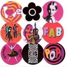 60's fashion stickers