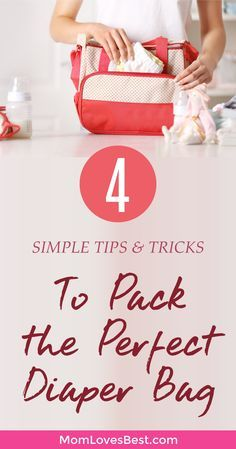 Are you tired of spending 5 minutes digging through your diaper bag just to find your baby's pacifier?  Does it always seem like a tornado just went through your diaper bag?  Click here to learn my top diaper bag tips, my favorite organization-friendly diaper bags, and exactly what you should keep in your bag. You'll learn the 4 simple steps to having a perfectly packed diaper bag.  #baby #motherhood #momlife #parentingtips #diapering #diaperbag