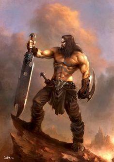 Fantasy Warrior, Fantasy Heroes, Fantasy Male, Fantasy Rpg, Medieval Fantasy, Fantasy Artwork, Dark Fantasy, Dnd Characters, Fantasy Characters