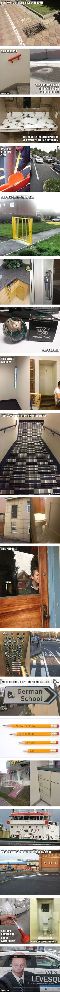 Brilliant Examples of Terrible Design. Rotfl