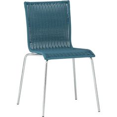 Kitchenette Teal Stack Chair in Dining Chairs | Crate and Barrel