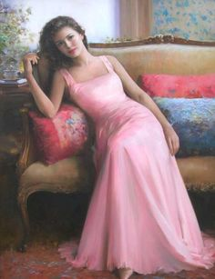 Specializing in figurative painting, he has become one of the most sought after artists in the country for his romantic paintings of women. Description from maherartgallery.blogspot.ca. I searched for this on bing.com/images