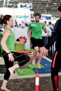 Fitnesstrainer auf der Fibo 2016 in Köln