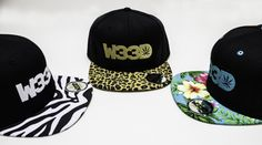 3 of the most popular W33D Snapbacks: Zebra, Leopard and Floral
