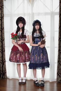 Neverland Lolita Souffle Song ***Byzantine Stained Glass*** High Waist Lolita Long JSK $89.99 - My Lolita Dress