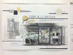 Interior Architecture Drawing, Interior Design Renderings, Interior Sketch, Architecture Design, Sketch Design, Layout Design, Interior Design Presentation, Landscape Sketch, Shop Front Design