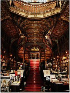 Lello Bookshop, built in 1906 by an engineering professor, Xavier Esteves, at Porto in Portugal.