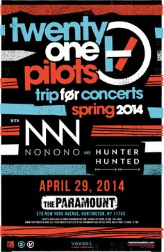Twenty One Pilots LIVE on Long Island at The Paramount (Huntington, NY) April 29 at 7:30pm