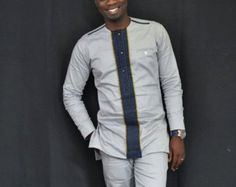 African shirt African clothing African men& wear by AnkaraBowTies African Shirts For Men, African Dresses Men, African Clothing For Men, African Men Fashion, Africa Fashion, African Attire, Dashiki For Men, African Dashiki, African Wear Designs