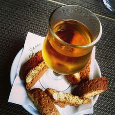 Vin santo with #biscotti in #florence.
