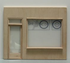 Make a Fixed Window For a Dollhouse, Miniature or Model Building