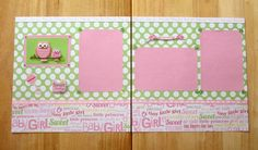 SOLD - Baby Girl Scrapbook  Baby Girl Owl Scrapbook by AngelBDesigns4You