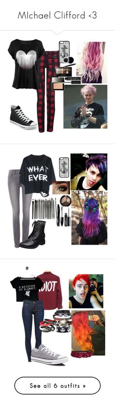 """""""MIchael Clifford <3"""" by universalstupidity ❤ liked on Polyvore featuring Dex, Converse, CellPowerCases, NARS Cosmetics, Maybelline, Mary Kay, Burberry, Paige Denim, MAC Cosmetics and Lancôme"""