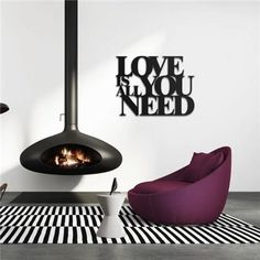 """Napis """"Love is all you need"""" - Dekoracje ścienne - Milvai Love Is All, Wall Decor, Wall Hanging Decor, Wall Decorations"""