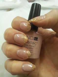 Christmas party nails with Shellac
