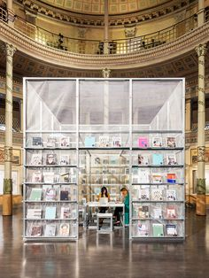 SET architects constructs pop-up newsstand inside the acquario romano in rome