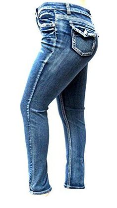 J&K Women's PLUS SIZE Acid Wash BLUE Stretch HIGH WAIST Denim JEANS SKINNY LEG (16)