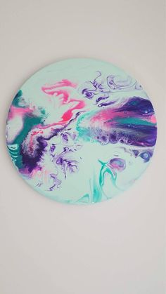 A personal favourite from my Etsy shop https://www.etsy.com/au/listing/543068942/fluid-acrylic-round-canvas-painting