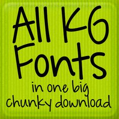 Over 230 of the cutest fonts you can imagine from Kimberly Geswein FREE for personal use.  All Fonts Download