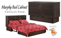 Cabinet Murphy beds! Have a tiny space where a normal bed won't do? Not enough ceiling height for a murphy bed? These cabinet beds rock!
