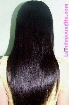 tóc đẹp với dầu dừa