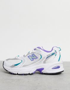 New Balance - 530 - Baskets en maille - Blanc et lilas Reebok, Air Max Sneakers, Sneakers Nike, Asos, Baskets, New Balance Sneakers, New Balance Women, Profile Design, Me Too Shoes